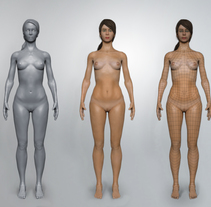 Anatomía 3D en Zbrush - Base mesh female. A 3D, Education, and Fine Art project by Alfonso Montón         - 27.05.2015