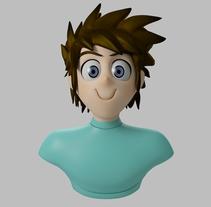Mi Proyecto del curso Modelado de personajes en 3D, Megaman. A 3D, and Sculpture project by oscar gonzalez         - 01.09.2015