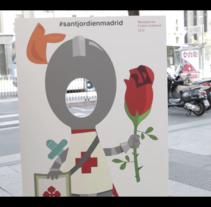 Sant Jordi 2015. Librería Blanquerna. . Um projeto de Vídeo de Raquel Sayago García         - 03.06.2015