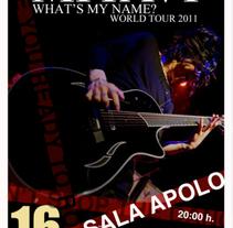 Concert poster. A Graphic Design project by Amanda Aliaga Barba         - 07.06.2015