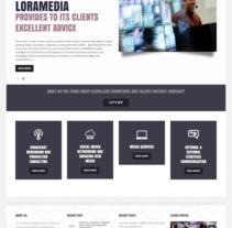 Lora Media | website. Un proyecto de Desarrollo Web, Diseño y Diseño Web de Natalia  Duarte - Martes, 09 de junio de 2015 00:00:00 +0200