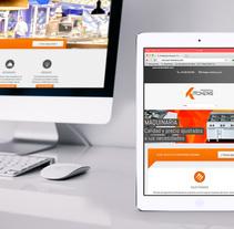Web Professional Kitchens. Un proyecto de Desarrollo Web y Diseño Web de Alex Mercadé  - 11.03.2015