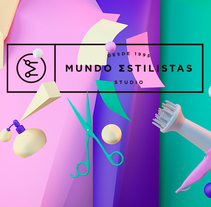 Mundo Estilistas. A 3D, Br, ing, Identit, and Art Direction project by Manuel Persa - 06.12.2015