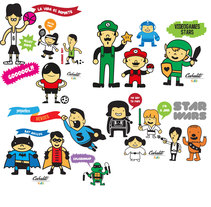 Los Chaches, diseño de personajes infantiles. Um projeto de Ilustração, Design de personagens e História em quadrinhos de Álvaro Martín martín         - 18.06.2014