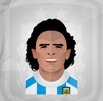 Magos (Maradona, Cruyff, Ronaldinho, Zidane, Pirlo, Kiko & Arda). A Illustration, Character Design, and Graphic Design project by José David López Sánchez         - 19.06.2015