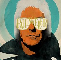 Cartel Paul Weller. A Design, Illustration, Music, and Audio project by Oscar Giménez - 06.22.2015