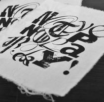 NotypeNoparty. Un proyecto de Diseño, Fotografía, Dirección de arte, Diseño gráfico, Serigrafía, Tipografía y Escritura de Victor Alonso Laguna - 26-06-2015