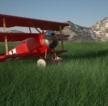 Avioneta Vray . Un proyecto de 3D de Alberto Lozano Cabedo - 01-07-2015
