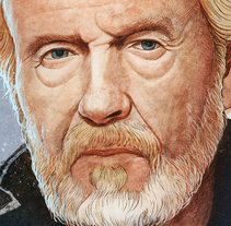 Great Filmmakers: Ridley Scott. A Illustration, and Painting project by Fende - 01-07-2015