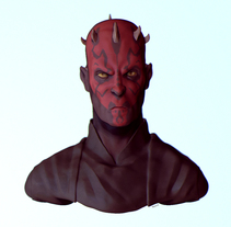 Darth Maul 3D Bust. A Illustration, 3D, Character Design, and Comic project by Chema Mansilla         - 05.07.2015