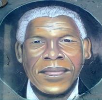 Nelson Mandela 2. A Fine Art project by Andrés López         - 04.07.2015