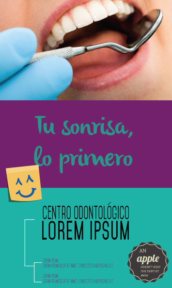 dentist advertising flyer example