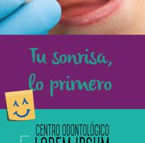 Dentist advertising flyer example. Um projeto de Design, Br, ing e Identidade e Design gráfico de Natalia Beato Pérez         - 20.07.2015