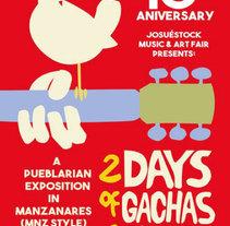 Cartel ROMERIDA 2015 (Woodstock advertisement). Un proyecto de Diseño, Br, ing e Identidad y Diseño gráfico de Natalia Beato Pérez         - 21.07.2015