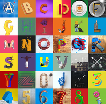 36 Days of Type. A Design, Illustration, 3D, Art Direction, Character Design, Crafts, Creative Consulting, Graphic Design, Sculpture, T, pograph, Collage, and Calligraph project by Rodrigo  Zarain Rojas         - 28.07.2015