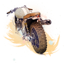 Cafe Racer Bikes. A Illustration project by Óscar Lloréns - Jul 30 2015 12:00 AM