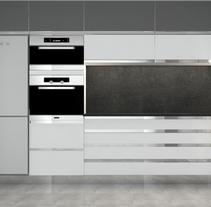 Cocina Minimal - Particular Barcelona. Un proyecto de 3D y Diseño de interiores de MIG CONSTRUIR         - 13.07.2015