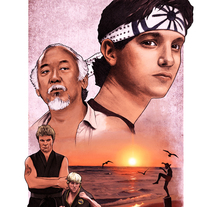 'Karate Kid' poster tributo. A Design, Illustration, and Film project by Ignacio RC  - 02-08-2015