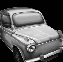 Old car. Un proyecto de Ilustración y Pintura de Andrea Sacchi         - 06.08.2015