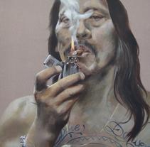 RETRATO ACRÍLICO (GRAN FORMATO). A Painting project by Natalia Navarro - 15-08-2015