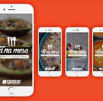 Giassi - Tá na Mesa app.. Un proyecto de Br, ing e Identidad y Arquitectura de la información de Junior Vendrami - 17-08-2015
