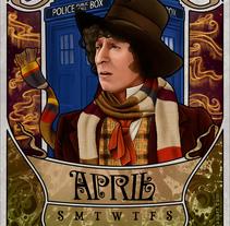 Calendario Doctor Who 2014. Um projeto de Ilustração e Design gráfico de Mel Trasfi - 25-12-2013