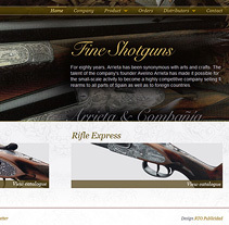 arrietashotguns.com. A Design, Interactive Design, Web Design, and Web Development project by Eloy Ortega Gatón - 21-08-2015