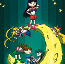 Moon Power!. A Illustration project by Diego Burdío         - 22.09.2014