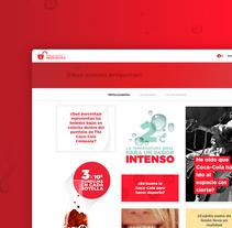 CocaCola Preguntas y Respuestas. Un proyecto de UI / UX, Arquitectura de la información, Diseño interactivo y Diseño Web de Jimena Catalina Gayo - 30-04-2015
