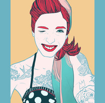 Pin Up. A Illustration, and Fine Art project by Carlos Navarro Blasco         - 06.09.2015