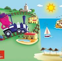 Tren Turístico Gran Alacant. A Illustration project by Estefania Fernández Molinero         - 08.09.2015