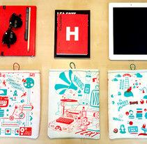Fundas 100% handmade. Un proyecto de Diseño, Ilustración y Diseño Web de Red Vinilo  - 21-12-2014