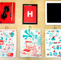 Fundas 100% handmade. A Design, Illustration, and Web Design project by Red Vinilo  - Dec 22 2014 12:00 AM