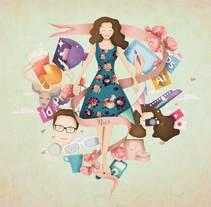 Mi project in Ilustración exprés con Illustrator y Photoshop course. Un proyecto de Diseño e Ilustración de Nur Ortega Marsal         - 20.09.2015