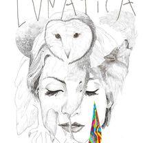 Lunática para Najwa Nimri. A Illustration project by Javier Navarro Romero         - 22.09.2015