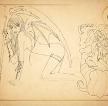 Bocetos manga. Un proyecto de Diseño de personajes y Comic de Meritxell Aznar Carmona         - 24.09.2015