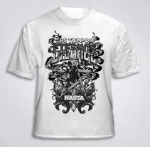 T-shirt Nasta. Um projeto de Design, Ilustração e Tipografia de Ms. Barrons         - 27.09.2015