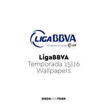 Liga BBVA - Mobile Wallpapers. A Illustration project by Diego Von Trier - 28-09-2015