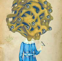 La observadora. A Collage&Illustration project by Paco Campos Pérez - Oct 01 2015 12:00 AM