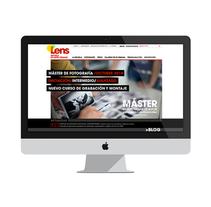 Lens, escuela de artes visuales. A Art Direction, Information Design, Graphic Design, and Web Design project by Daniela Setien - Oct 06 2015 12:00 AM