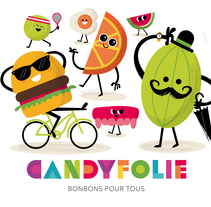 Candyfolie. A Design, Illustration, Br, ing, Identit, and Character Design project by Rebombo estudio         - 13.10.2015