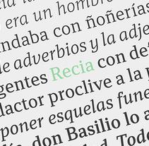 Recia. Un proyecto de Diseño gráfico y Tipografía de Carlos de Toro - 13-10-2015