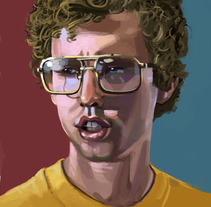 Napoleon Dynamite. A Illustration, Fine Art, and Painting project by Marco Francés Grau         - 18.10.2015