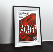 Red Hook Crit Barcelona No.2 - After Party Poster. Um projeto de Design, Design gráfico e   Tipografia de Armand Paul Quiroz - 20-10-2015