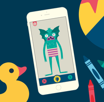 Imaginary Monsters App. A Illustration, Animation, and Art Direction project by Facundo Samman         - 21.10.2015