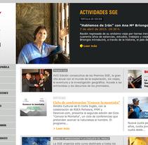 sge.org. Um projeto de Web design e Desenvolvimento Web de Gema R. Yanguas Almazán         - 14.04.2015