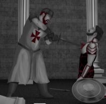 The Warrior´s Sacrifice - Cortometraje de animación 2D/3D. A Illustration, Motion Graphics, Film, Video, TV, Animation, and Post-Production project by Daniel Bezier         - 26.10.2015
