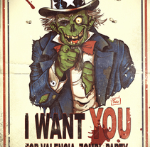 I want you for Valencia Zombi Party. A Illustration, and Comic project by Pau Margaix Aranda         - 26.10.2015