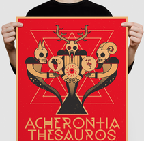 Acherontia/Thesauros/Gain poster. A Illustration, Art Direction, and Graphic Design project by Daniel Vidal         - 29.10.2015