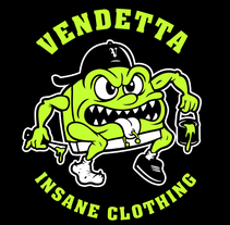 Vendetta Insane Clothing. A Illustration, Accessor, Design, Character Design, Graphic Design, and Screen-printing project by Adrian Ballesteros - 09-10-2015